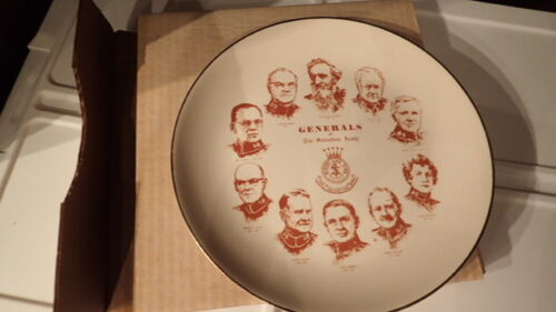 1970s NOS GENERALS OF THE SALVATION ARMY PLATE William Booth Collector New w/Box