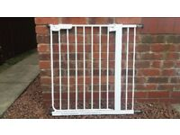 White Metal Safety Gate