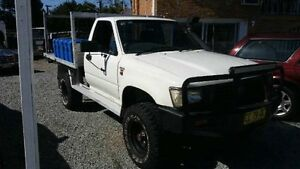 1996 Toyota Hilux LN106R White Manual Utility Deagon Brisbane North East Preview