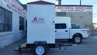 Portable Washroom on a 10' Trailer for Rent!