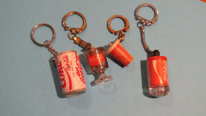 Lot of 4 Coca-Cola keychains