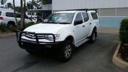2014 Mitsubishi Triton MN MY15 GLX Double Cab White 4 Speed Sports Automatic Utility Acacia Ridge Brisbane South West Preview
