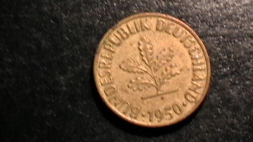 Germany: 10 Pfennig 1950 J German Federal Republic  508B6
