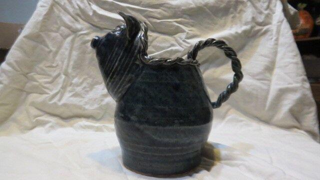"lin craven folk pottery ""pig pitcher"" 1996 #2"