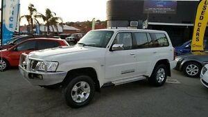 2012 Nissan Patrol GU 7 MY10 Diese ST Pearl White Manual Wagon