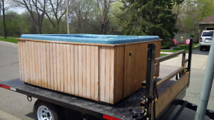 hot tub moving & disposal call the trained professionals today