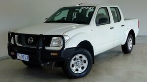 2007 Nissan Navara D40 ST-X White 5 Speed Automatic Utility Hobart CBD Hobart City Preview