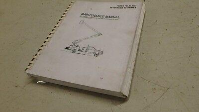 Terex Hi-ranger Sc Series Aerial Lift Maintenance Manual Ci141