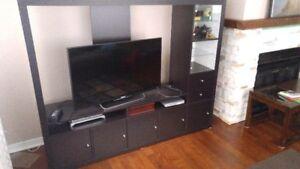 Meuble tv et bibliothèque noir / nice big tv furniture