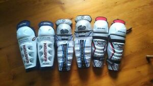 "4x Hockey Shin pads, 10"", 11"", 12"" Kitchener / Waterloo Kitchener Area image 1"