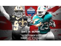 NFL 3 tickets-SAINTS VS DOLPHINS TICKETS GREAT SEATS!!!