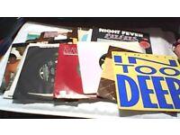 27 x SINGLES (VINYL RECORDS), GENESIS, PINK FLOYD, ULTRAVOX, 10CC, SUPERTRAMP ETC.