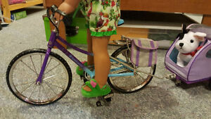 American Girl - Bike and Trailer (doll & pet not included)