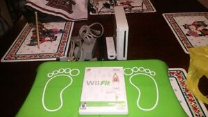 NIntendo Wii With Wii Fit Game ANd Balance Board