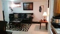 1 bedroom basement apartment $700  all included