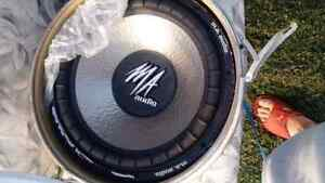 MA AUDIO 15 INCH (NEW) COMPETITION SUBS, WITH ENCLOSER