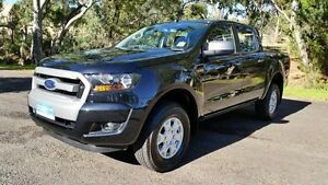 2016 Ford Ranger PX MkII XLS Double Cab Jet Black 6 Speed Manual Utility Tanunda Barossa Area Preview