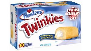 New Hostess Twinkies Golden Sponge Cake with creamy filling Sweetest comeback