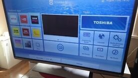 TOSHIBA 48-inch Smart 3D FULL HD LED 1080P TV-built in Wifi,Freeview HD,Netflix, FULLY WORKING