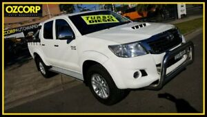 2013 Toyota Hilux KUN26R MY12 SR5 (4x4) White 5 Speed Manual Dual Cab Pick-up Homebush Strathfield Area Preview