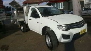 2010 Mitsubishi Triton MN MY11 GL White 5 Speed Manual Cab Chassis Revesby Bankstown Area Preview