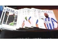 13 x BRIGHTON & HOVE ALBION FOOTBALL PROGRAMMES ALL 2016. PLUS POSTERS.
