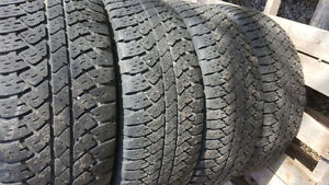 4 Like New Bridgestone Dueler A/T Tires 265/65/18