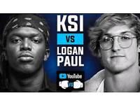 4 X KSI VS LOGAN PAUL SEATED TICKETS MANCHESTER 25/08/2018 LOWER TEIR