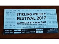 Stirling Whisky Festival Ticket 2017.