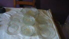 11 Piece Glass Trifle Set