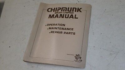 Chipmunk Brush Chipper Maintenance Parts Manual Ci103