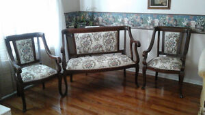 Antique Settee and matching chairs set