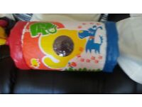 Inflatable Baby Roller-Rattle, Sound, Crawling, Pushing Activity