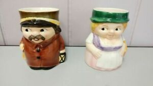 Goebel collectible beer toby Mugs/Night Watchman and Frau Beer