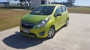 2013 Holden Barina Spark MJ MY13 CD Green 4 Speed Automatic Hatchback Gympie Gympie Area Preview