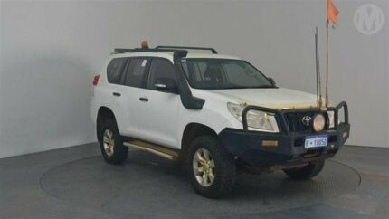 2012 Toyota Landcruiser Prado KDJ150R 11 Upgrade GX (4x4) Glacier White 5 Speed Sequential Auto Perth Airport Belmont Area Preview