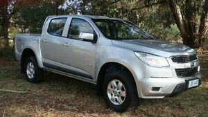 2013 Holden Colorado RG MY13 LT Crew Cab Silver 5 Speed Manual Utility Oaks Estate Queanbeyan Area Preview