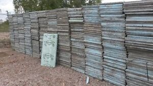 BLUE STYROFOAM 2 inch thick.Used 2x4 sheets - Half Price of new!