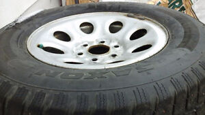 265/70R 17 winter tires with CHEVY RIMS