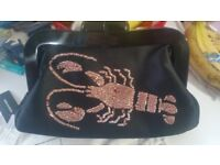 Lulu Guinness Sequin Lobster Large Pollyanna Clutch Bag New With Tags