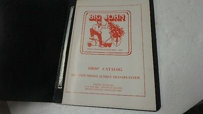 Big John 50 Tree Transplanter Parts Manual Catalog Ci41