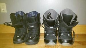 Men's size 8 and 9 snow board boots.