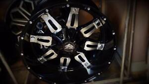 NEW! 20x10  Black&machined - F150 F250 F350 1500 2500 3500 CHEV