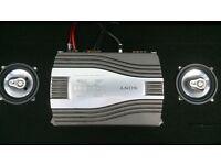 Sony Radio w/Bluetooth USB CD NFC + Sony AMP 400watts + Fli 3way Speakers 180watts