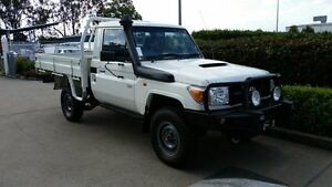 2012 Toyota Landcruiser VDJ79R MY10 Workmate White 5 Speed Manual Cab Chassis Acacia Ridge Brisbane South West Preview