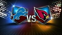 Detroit Lions VS Arizona Cardinals! Lower Bowl tickets