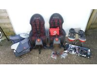 Hamax child bike seats X 2 with pannier set and raincover: job lot