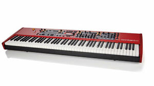 Nord Stage 2 EX  stage piano with Gator case on wheels