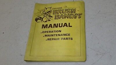 Asplundh Brush Bandit Chipper Jdc100 Operators Parts Manual Ci111