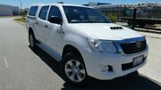 2014 Toyota Hilux KUN26R MY14 SR Double Cab Glacier White 5 Speed Automatic Utility Bassendean Bassendean Area Preview